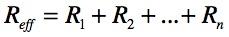resistor series